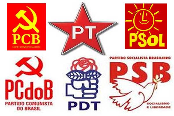 Resultado de imagem para partidos de esquerda