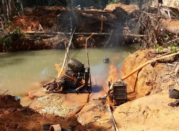 Garimpos ilegais em reservas indígenas de RO e MT são desativados, veja as fotos